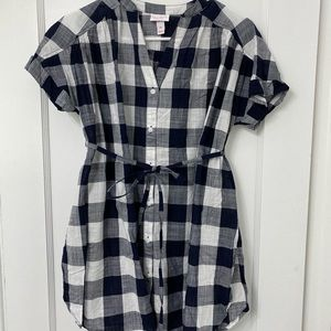 gingham maternity blouse